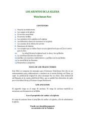 Los Asuntos de la iglesia - Watchman Nee.pdf