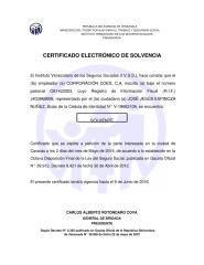 Certificado Electrónico de Solvencia - IVSS (Mayo 2016).rtf