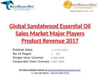Global Sandalwood Essential Oil Sales Market Major Players Product Revenue 2017.pptx