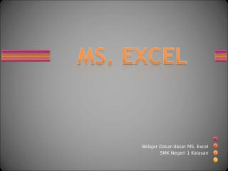 Dasar PEngenalan Excel.ppt