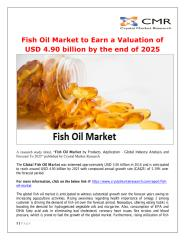 Fish Oil Market to Earn a Valuation of USD 4.90 billion by the end of 2025.pdf