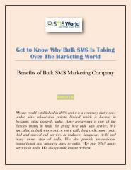 Get to Know Why Bulk SMS Is Taking Over The Marketing World.pdf