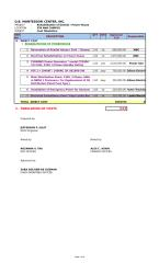 Cost TABULATION for Electrical power house.xls
