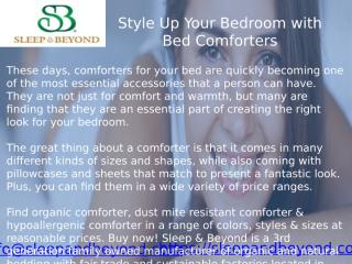 Style Up Your Bedroom with Bed Comforters.pptx