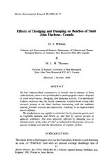 Effects of dredging and dumping on benthos.pdf
