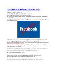 Cara Hack Facebook Terbaru 2013.docx