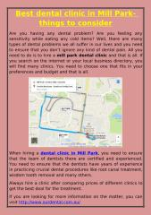 Best dental clinic in Mill Park- things to consider.pdf