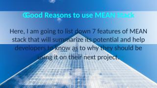 MEAN Stack Online Training and  Good reasons.pptx