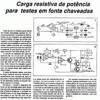Fonte Carga Resistiva De Potencia Para Teste Em Fo